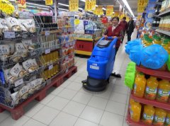 烟台超市选用青岛容恩洗地机进行保洁工作