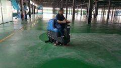大型车间地坪清洗用驾驶式洗地机